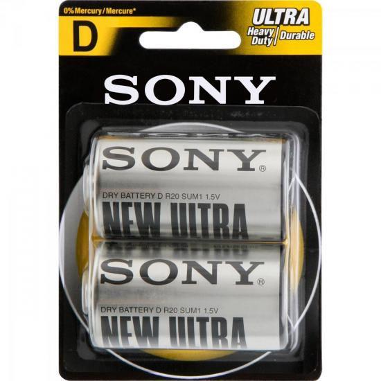 Pilha Zinco D SUM1-NUB2A Sony Caixa c/24 pilhas (cartela c/2