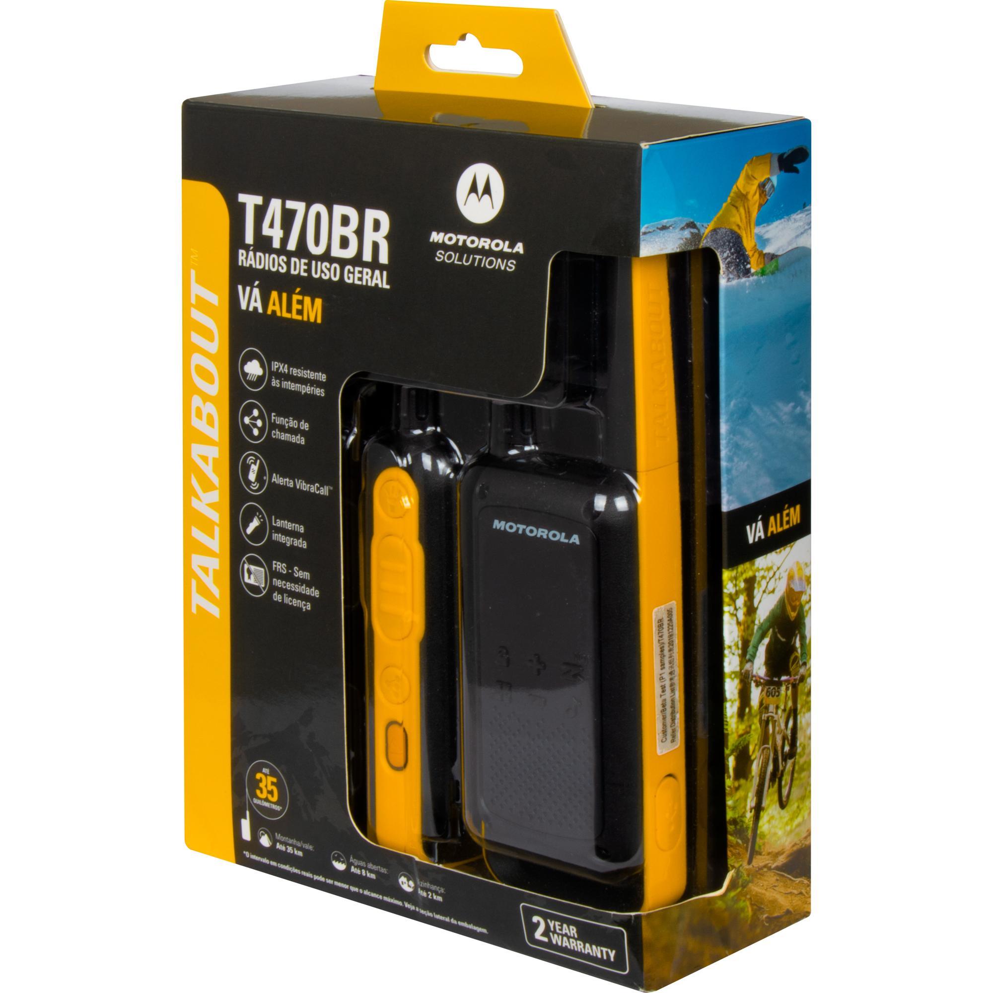 Rádio Comunicador Talkabout 35km T470BR Amarelo/Preto MOTORO