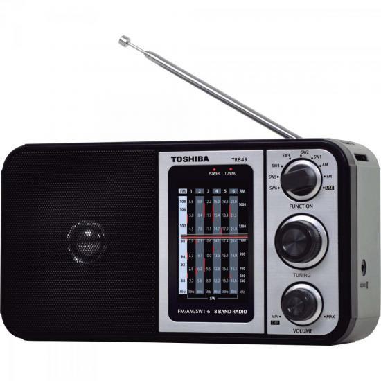 Rádio Portátil FM/AM/USB MP3 TR849 Preto SEMP TOSHIBA