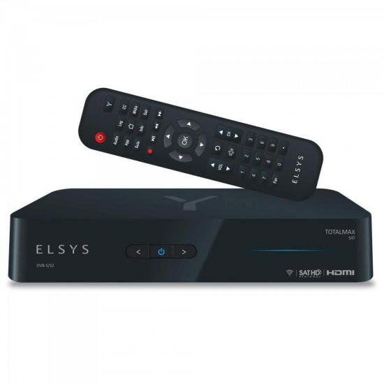 Receptor Digital Totalmax ETRS47 Preto ELSYS