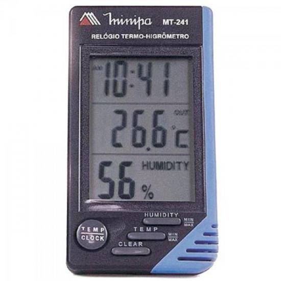 Relógio Termo-Higrômetro MT-241 MINIPA