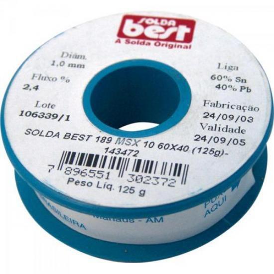 Solda em Fio 189-MSX10 60x40 125g Azul SOLDA BEST