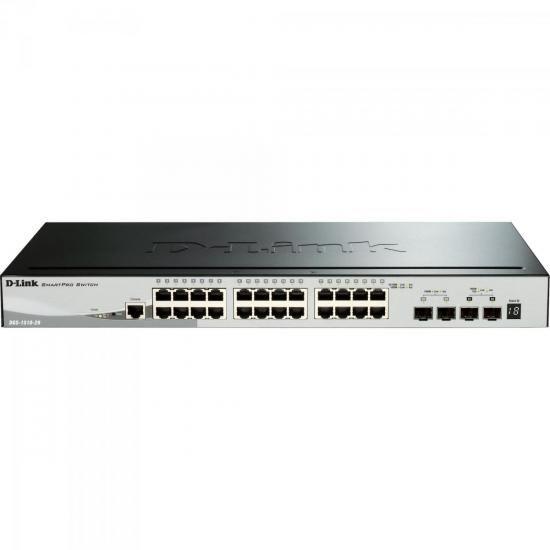 Switch Gigabit 28 Portas 1000Mbps DGS-1510-28 Preto D-LINK