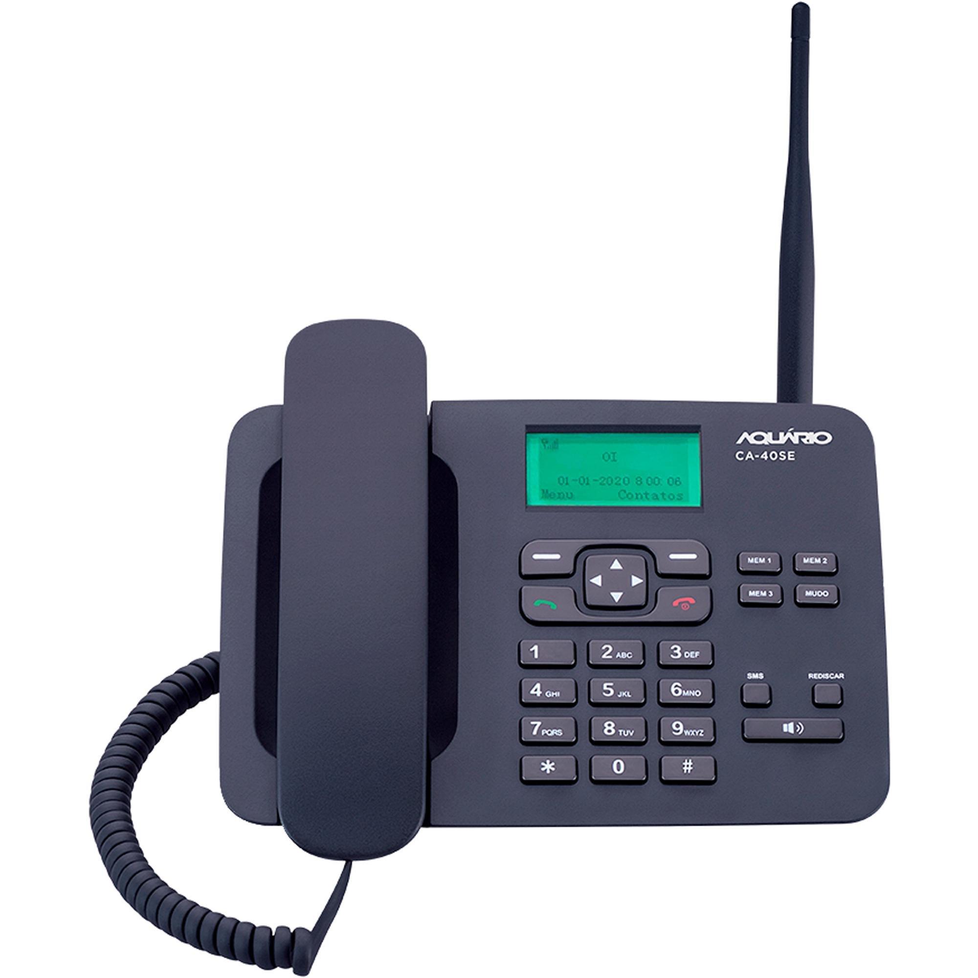 Telefone Celular de Mesa 2G CA-40SE AQUARIO