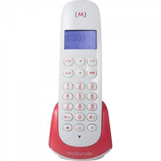 Telefone s/ fio com Id de chamada MOTO700S Branco/Vermelho M