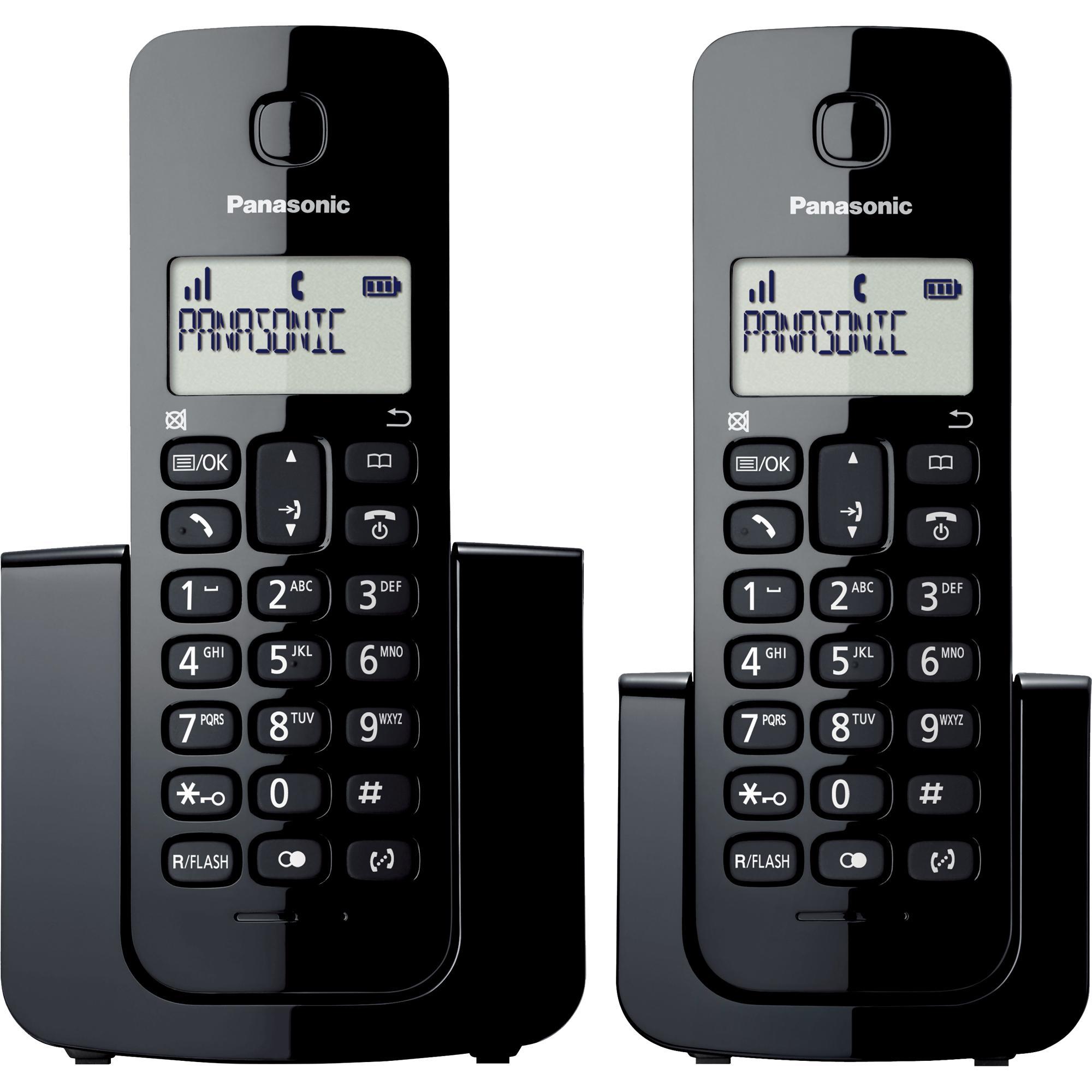 Telefone sem Fio com ID Base + Ramal KX-TGB112LBB Preto PANA