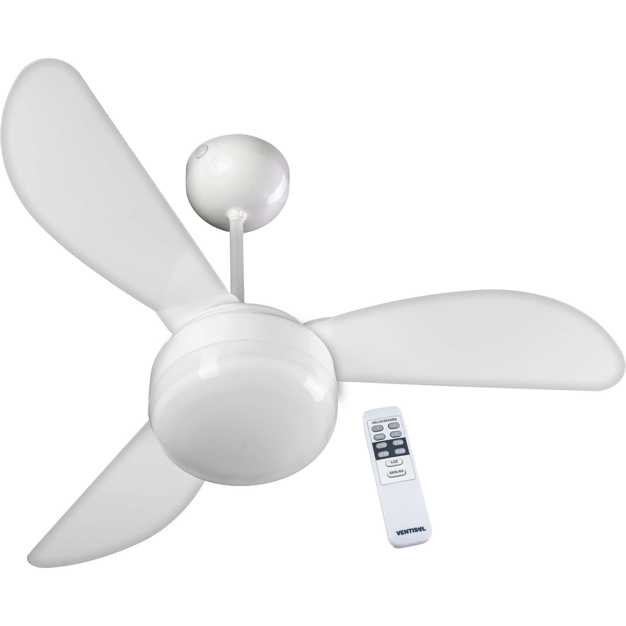Ventilador de Teto 3 Pás 127V com Controle FENIX Branco VENT