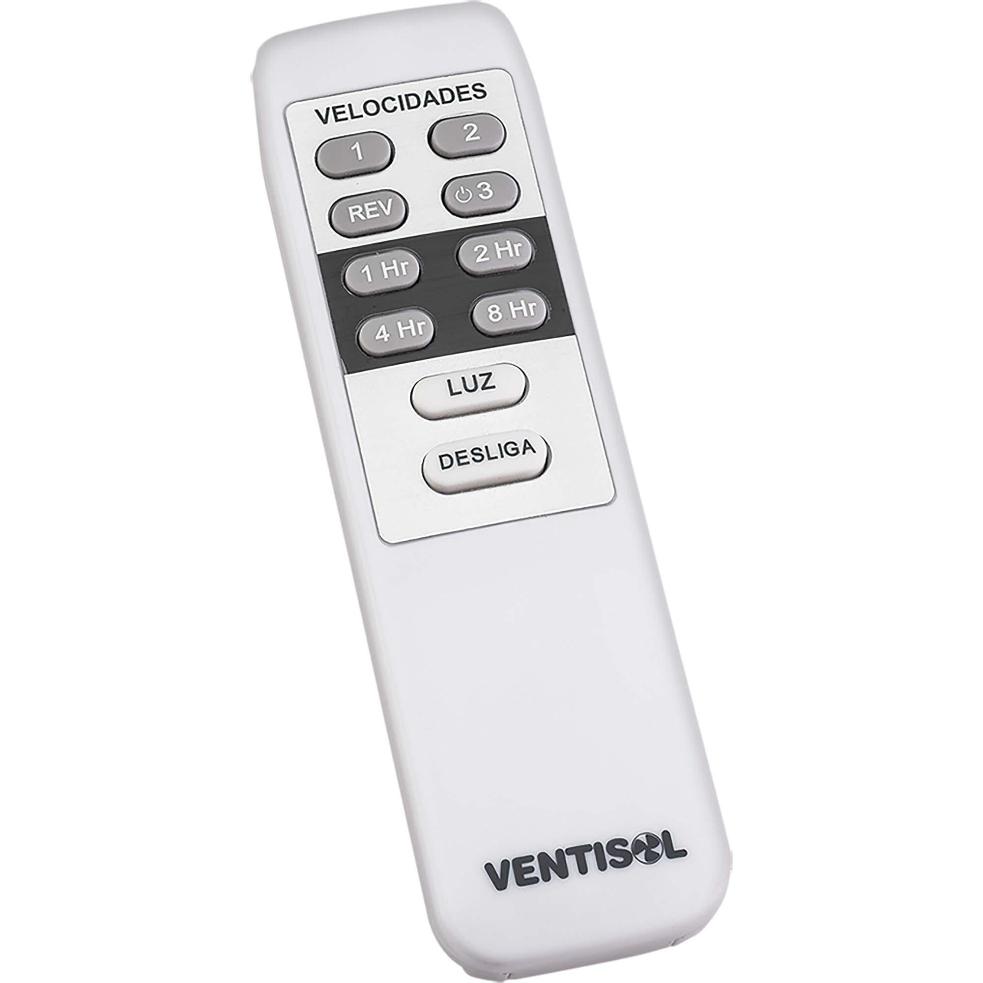Ventilador de Teto 3 Pás 220V com Controle FENIX Branco VENT