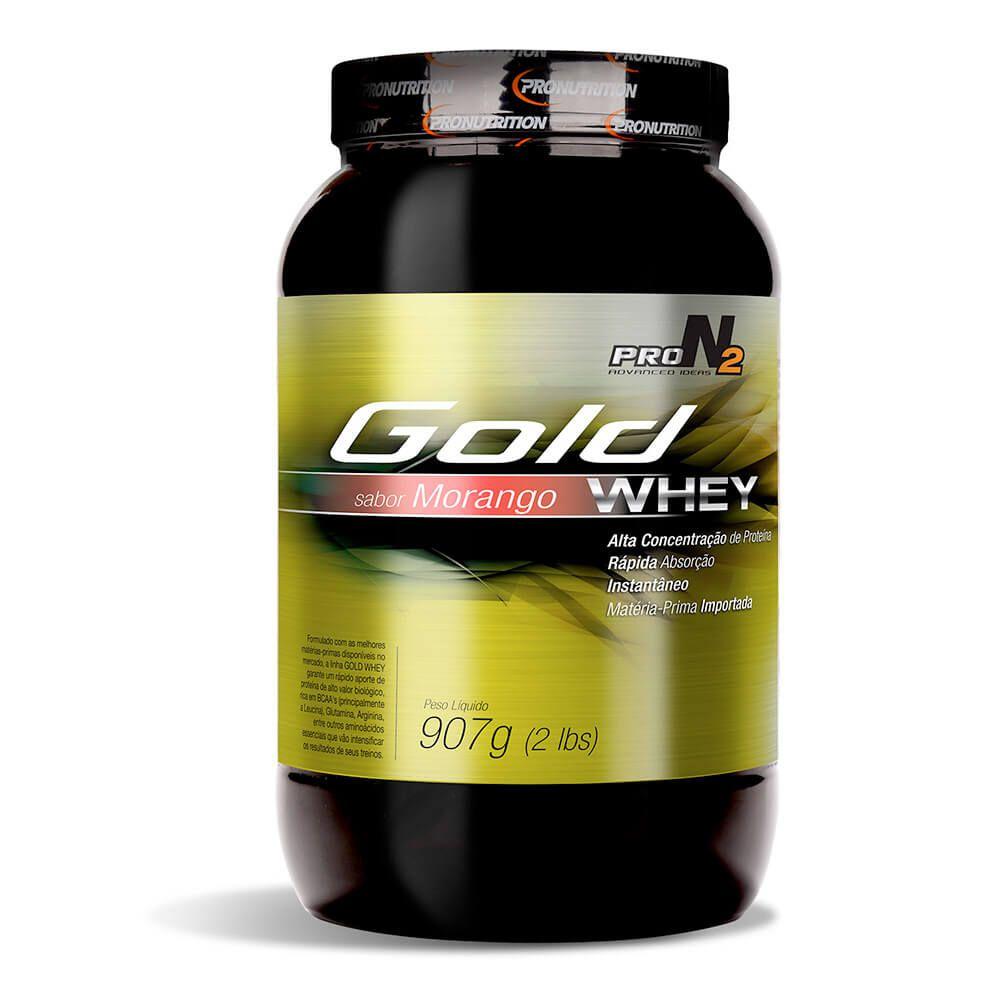 Whey Concentrado Gold Protein  - Morango