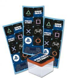 Adesivo Quadrado PlayStation c/30 unidades