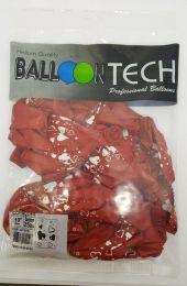 """Balão Balloontech 10"""" Corações c/25 unidades"""