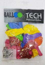 """Balão Balloontech 10"""" Parabéns Sortido c/25 unidades"""