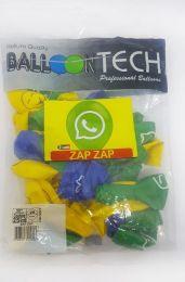 """Balão Balloontech 10"""" Zap Zap c/25 unidades"""