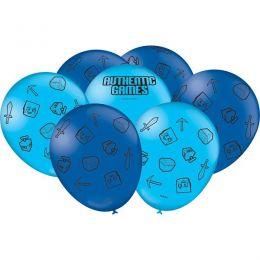 """Balão Decorado 9"""" Authentic Games c/25 unidades"""