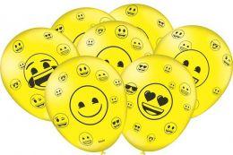 """Balão Decorado 9"""" Emoji c/25 unidades"""