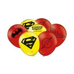 """Balão Decorado 9"""" Liga da Justiça c/25 unidades"""