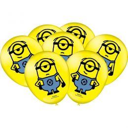 """Balão Decorado 9"""" Minions c/25 unidades"""