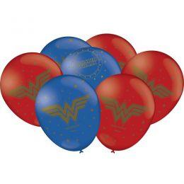 """Balão Decorado 9"""" Mulher Maravilha c/25 unidades"""
