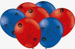 """Balão Decorado 9"""" Teia de Aranha c/25 unidades"""
