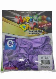 Balão Happy Day Alumínio Violeta nº 9 - c/25 unidades
