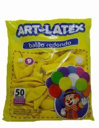 Balão Liso Art-Latex Amarelo nº 9 - c/50 unidades