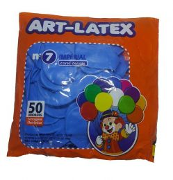 Balão Liso Art-Latex Azul Celeste nº 7 - c/50 unidades