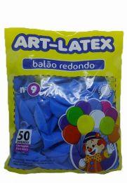 Balão Liso Art-Latex Azul Celeste nº 9 - c/50 unidades