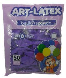 Balão Liso Art-Latex Lilas nº 8 - c/50 unidades
