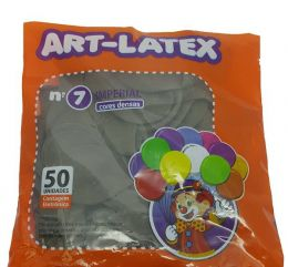 Balão Liso Art-Latex Marrom nº 7 - c/50 unidades