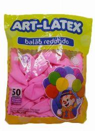Balão Liso Art-Latex Rosa Claro nº 9 - c/50 unidades