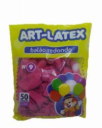 Balão Liso Art-Latex Rosa Maravilha nº 9 - c/50 unidades