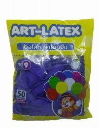 Balão Liso Art-Latex Roxo nº 9 - c/50 unidades