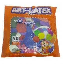 Balão Liso Art-Latex Sortido nº 7 - c/50 unidades
