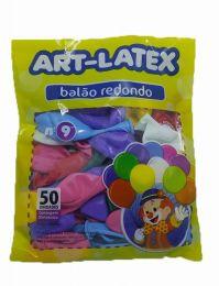 Balão Liso Art-Latex Sortido nº 9 - c/50 unidades