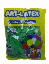 Balão Liso Art-Latex Verde Folha nº 9 - c/50 unidades