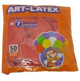 Balão Liso Art-Latex Vermelho nº 7 - c/50 unidades