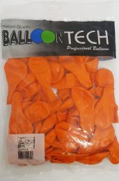 Balão Liso Balloontech Laranja nº 7 - c/50 unidades