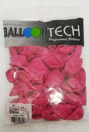 Balão Liso Balloontech Pink nº 9 - c/50 unidades