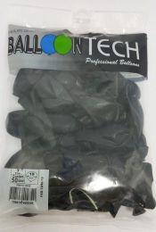 Balão Liso Balloontech Preto Onix  nº 7 - c/50 unidades