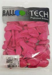 Balão Liso Balloontech Rosa Pink  nº 7 - c/50 unidades