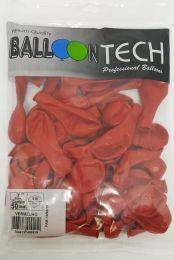 Balão Liso Balloontech Vermelho nº 7 - c/50 unidades