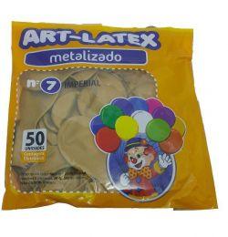 Balão Metalizado Art-Latex Ouro nº 7 - c/50 unidades