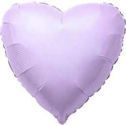 """Balão Metalizado Coração Lilás Candy 18"""" polegadas 45 cm - unidade"""