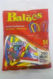 Balão Pic Pic Canudo Sortido c/50 unidades