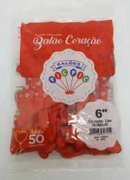 Balão Pic Pic Coração Vermelho nº6 c/50 unidades