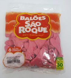 Balão São Roque Coração Tutti-Frutti nº6 c/50 unidades