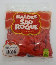Balão São Roque Coração Vermelho nº6 c/50 unidades