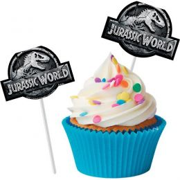 Bandeirinha Para Docinho Jurassic World c/08 unidades