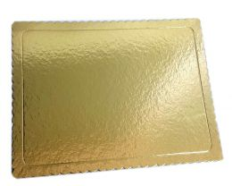 Base para Bolo Cakeboard Retangular Dourado 40 cm x 30 cm - unidade