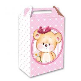Caixa Surpresa Ursinha Rosa
